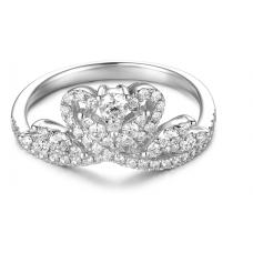 Coburn Prong Diamond Ring 18K White Gold