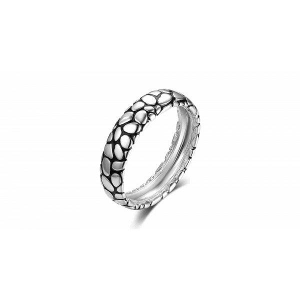 Vida Men Wedding Ring 18K White and Black Gold