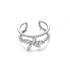 Orca prong Diamond Ring 18K White Gold
