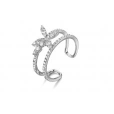 Orca prong Diamond Ring 18K White Gold