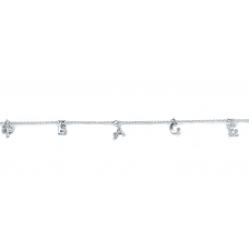 Aurelius Prong Diamond Bracelet 18K White Gold
