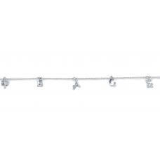 Aurelius Prong Diamond Bracelet 18K White Gold