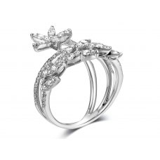 Hester Channel Diamond Ring 18K White Gold