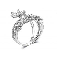 Hester Channel Diamond Ring 18K White Gold