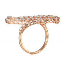 Luzie Shared Prong Diamond Ring 18K Rose Gold