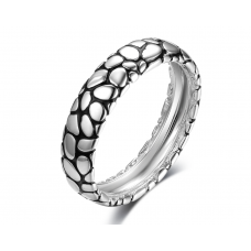 Vida Women Wedding Ring 18K White and Black Gold
