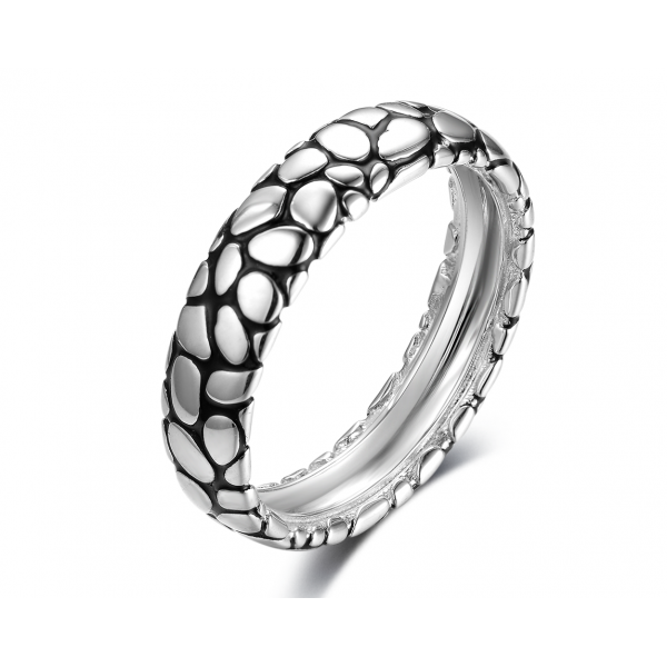 Vida Men Wedding Ring 18K White and Black Gold