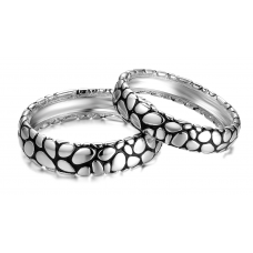 Vida Wedding Ring 18K White and Black Gold(Pair)