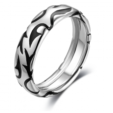 Mica Wedding Ring 18K White and Black Gold(Pair)