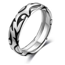 Mica Wedding Ring 18K White and Black Gold(Pair)