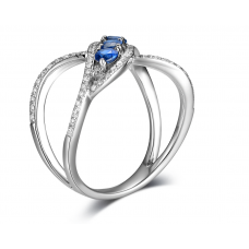 Mucia Kyanite Diamond Ring 18K White Gold