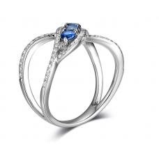 Mucia Kyanite Diamond Ring 18K White Gold