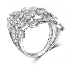Decima Channel Diamond Ring 18K White Gold