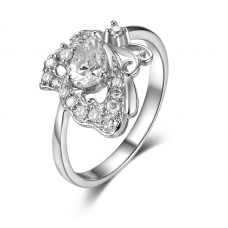 Persis Prong Diamond Ring 18K White Gold