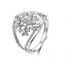 Tullia Micropave Diamond Ring 18K White Gold