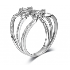 Tanaquil Shared Diamond Ring 18K White Gold
