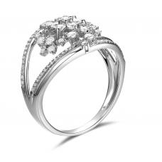 Tullia Micropave Diamond Ring 18K White Gold