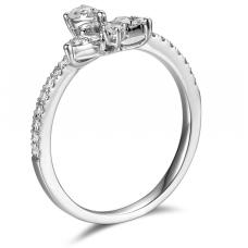 Verina Micropave Diamond Ring 18K White Gold
