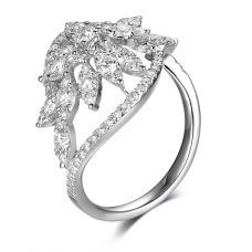 Amity Channel Diamond Ring 18K White Gold