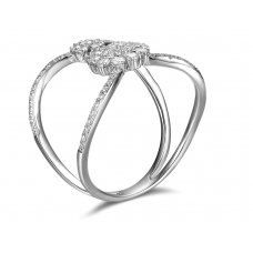 Edith Shared Prong Diamond Ring 18K White Gold