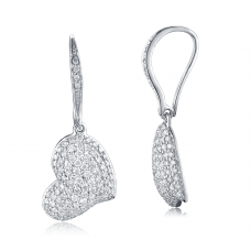 Cora Pave Diamond Earring 18K White Gold