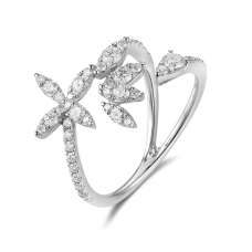 Beatrix Channel Diamond Ring 18K White Gold