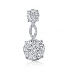 Fiorello Diamond Pendant 18K White Gold