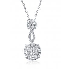 Fiorello Diamond Pendant 18K White Gold