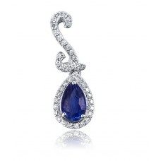 Pascual Kyanite Diamond Pendant 18K White Gold