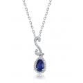 Pascual Kyanite Diamond Pendant 18K White Gold