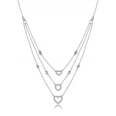 Galtem Diamond Necklace 18K White Gold