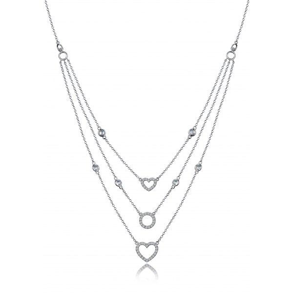 Galtem Diamond Necklace 18K White Gold