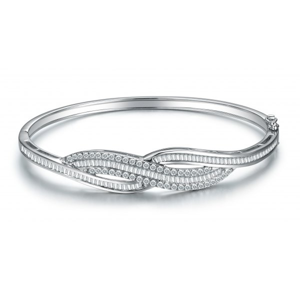 Florentina Diamond bangle 18K White Gold