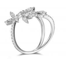 Beatrix Channel Diamond Ring 18K White Gold