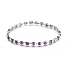 Florenza Ruby Diamond Bangle 18K White Gold