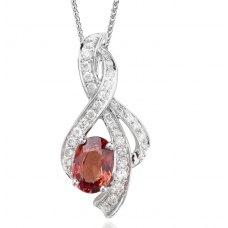 Tolle Sapphire Diamond Pendant 18K White Gold