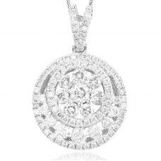 Kaleidoscope Diamond Pendant 18K White Gold