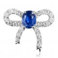 Nyla Kynite Diamond Earring 18K White Gold
