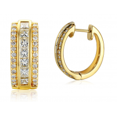 Petra Princess Diamond Earring 18K Yellow Gold