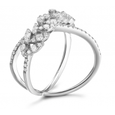 Tasia Channel Diamond Ring 18K White Gold