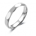 Le Laura Comfort Fit Wedding Ring 18K White Gold(Pair)
