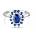 Wilma Kyanite Diamond Ring 18K White Gold