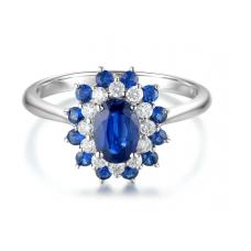 Wilma Kyanite Diamond Ring 18K White Gold