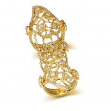 Paula MicroPave Diamond Ring 18K Yellow Gold