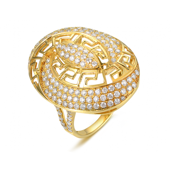 Romina Channel Diamond Ring 18K Yellow Gold