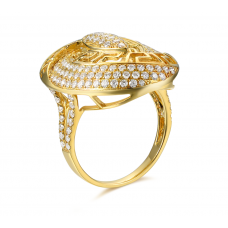 Romina Channel Diamond Ring 18K Yellow Gold