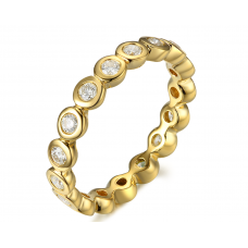 Taina Bezel Diamond Ring 18K Yellow Gold
