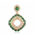Zilla Emerald Diamond Pendant 18K Yellow Gold