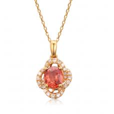 Lexy Sapphire Diamond Pendant 18K Yellow Gold