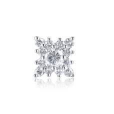 Carla Channel Diamond Earring 18K White Gold